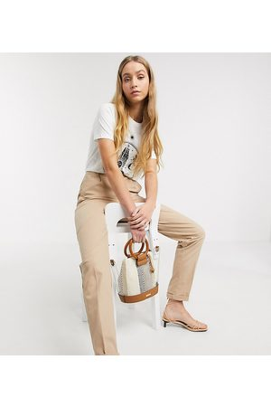 ASOS ASOS DESIGN Tall chino trousers in stone