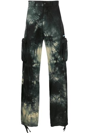 OFF-WHITE Tie-dye cargo trousers