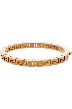 VERSACE Gold tone Greca bangle bracelet
