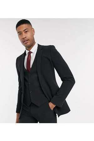 ASOS Tall super skinny suit jacket in four way stretch in black