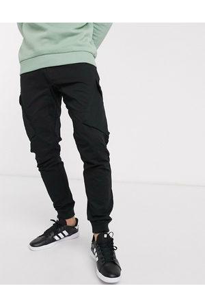 River Island Muži Kapsáče - Parker cargo trousers in black