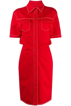 OFF-WHITE DENIM DRESS RED NO COLOR