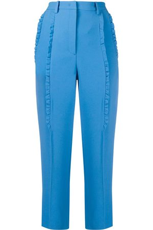 Nº21 Ruffle-trimmed cropped cigarette trousers