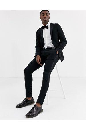 ASOS Super skinny tuxedo suit trousers in black