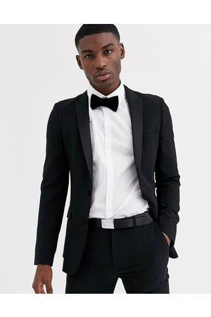 ASOS Super skinny tuxedo suit jacket in black