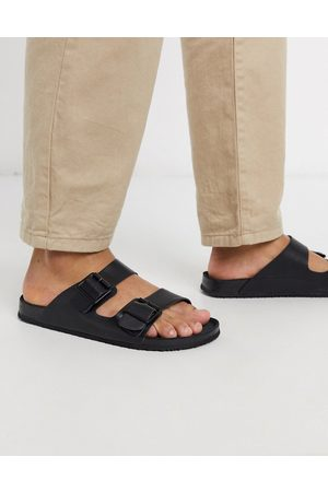 ASOS Sandals in triple black with buckle
