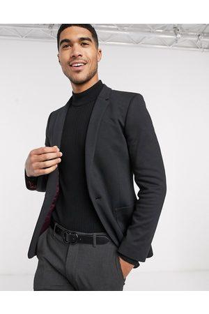 ASOS Muži Saka - Super skinny jersey blazer in black