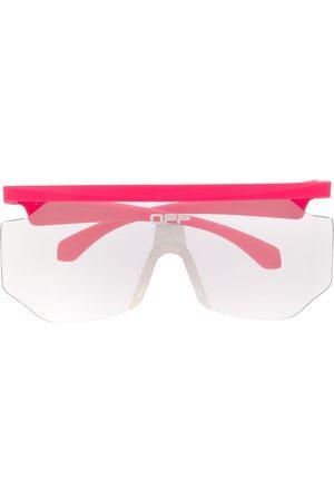 OFF-WHITE Lettering logo mask-frame sunglasses