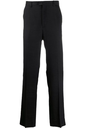 Gianfranco Ferré 1990s textured stripes straight-fit trousers