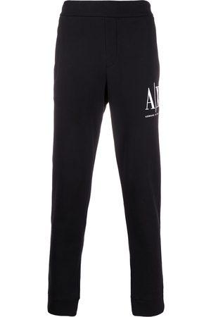 Armani Exchange Logo embroidered track pants