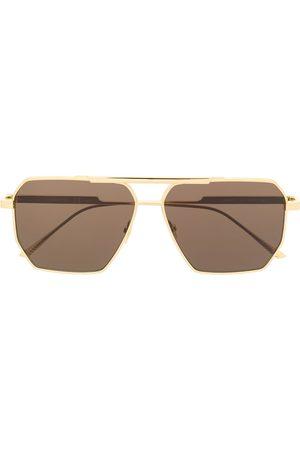 Bottega Veneta Square-frame logo sunglasses