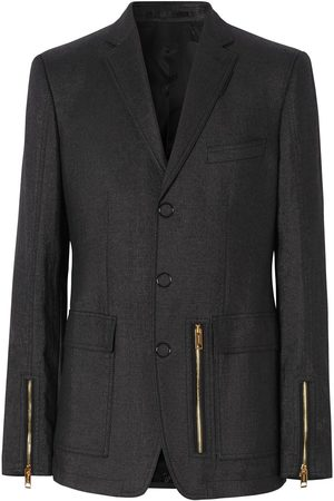 Burberry Zip detail tailored blazer