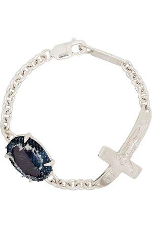 Sweetlimejuice Sterling silver cross detail bracelet