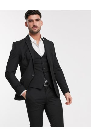 New Look Muži Saka - Skinny suit jacket in black