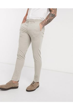 Jack & Jones Premium super slim stretch suit trousers with recycled polyester in stone