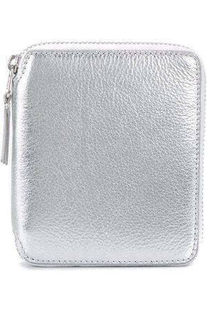 Comme des Garçons Metallic zip wallet
