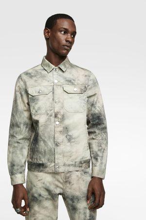 Zara Džínová bunda s potiskem tie dye