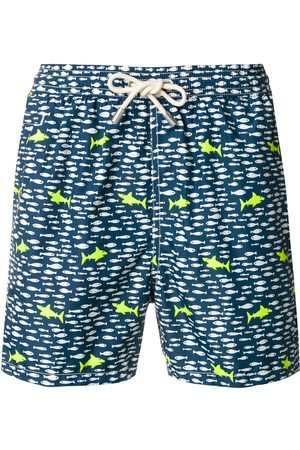 MC2 SAINT BARTH Muži Šortky - Shark print swim shorts