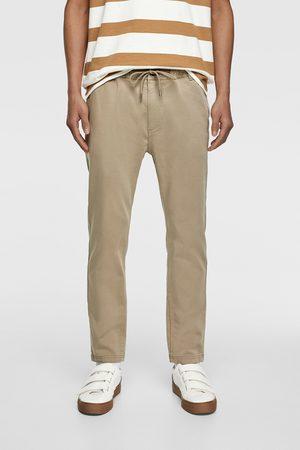 Zara Muži Strečové - Kalhoty jogger soft cotton