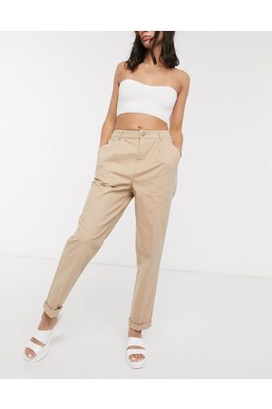 ASOS Ženy Chino - Hourglass chino trousers in stone-Beige