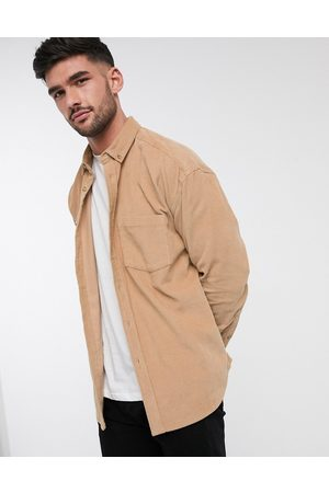 ASOS Oversized 90s style cord shirt in beige