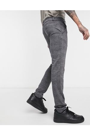 River Island Muži Chino - Smart trousers in grey check