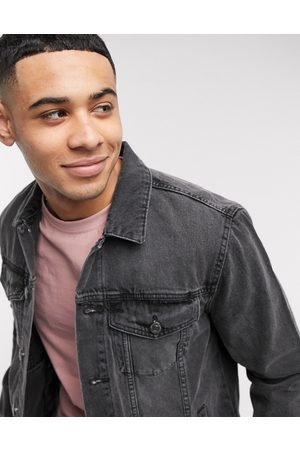 New Look Muži Džínové bundy - Denim jacket in grey wash