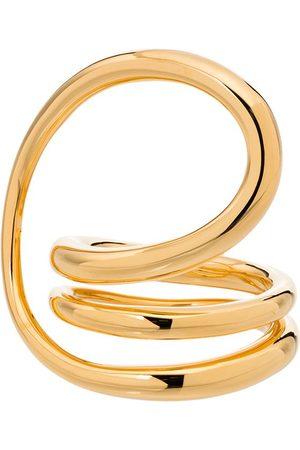 CHARLOTTE CHESNAIS Round Trip gold vermeil ring