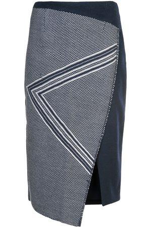 Voz Ženy S potiskem - Asymmetric pattern skirt
