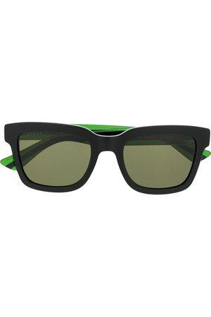 Gucci Web detail square frame sunglasses
