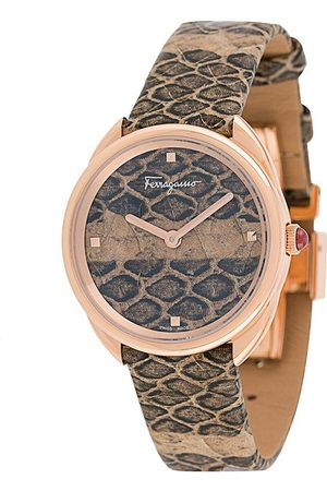 Salvatore Ferragamo Snakeskin Cuir 30mm watch