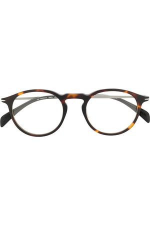 Eyewear by David Beckham Round-frame clip-on sunglasses