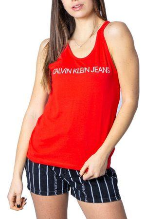 Calvin Klein Ženy Topy - Dámský červený top Logo