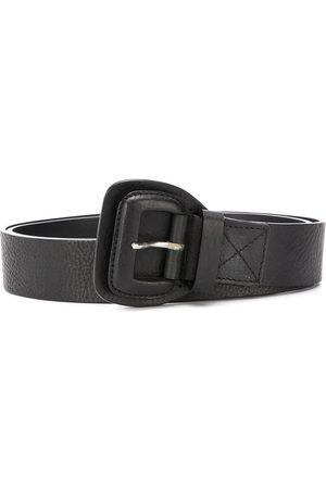 Gianfranco Ferré 2005 textured leather buckle belt