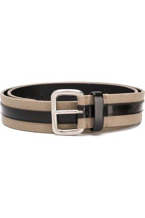 Gianfranco Ferré 1990 two-tone buckle belt