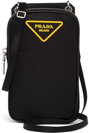 Prada Padded logo-patch smartphone case