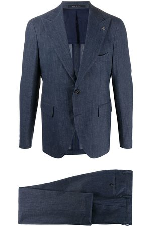 TAGLIATORE Textured pleated detail suit