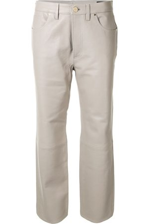 Goldsign Leather cropped trousers