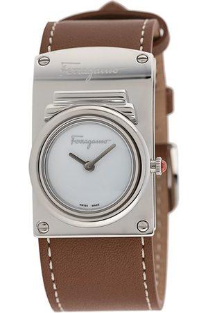 Salvatore Ferragamo Boxyz contrast-stitching watch