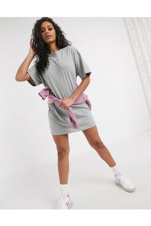 Nike Mini swoosh t-shirt dress in grey