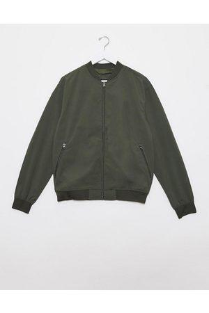 Pull&Bear Muži Bombery - Bomber jacket in khaki-Green