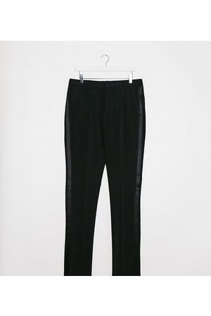 ASOS Tall super skinny tuxedo suit trousers in black