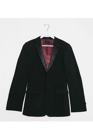 ASOS Tall super skinny tuxedo suit jacket in black