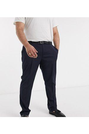 ASOS Plus skinny tuxedo suit trouser in navy