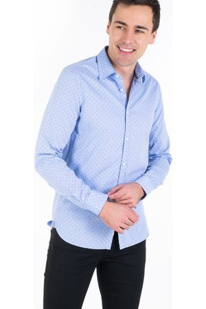 Pepe Jeans Muži Košile - Pánská košile s červeným vzorem Lane