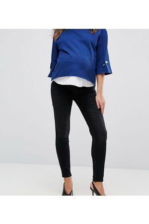 Gebe Premium over-the-bump skinny jeans in black