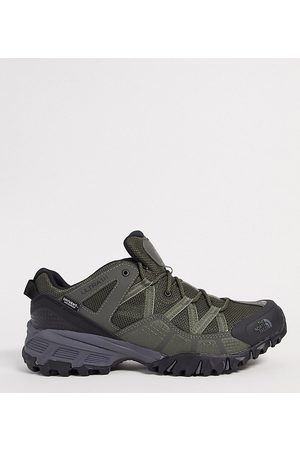 The North Face Ultra 111 trainers in green/black
