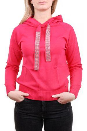 Guess Ženy Svetry - Dámský růžový svetřík s kapucí