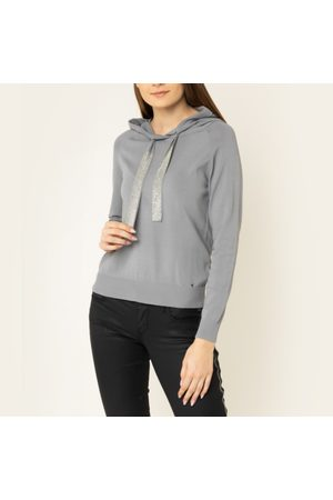 Guess Ženy Svetry - Dámský šedý svetřík s kapucí
