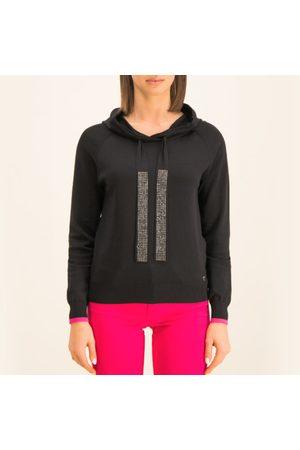 Guess Ženy Svetry - Dámský černý svetřík s kapucí